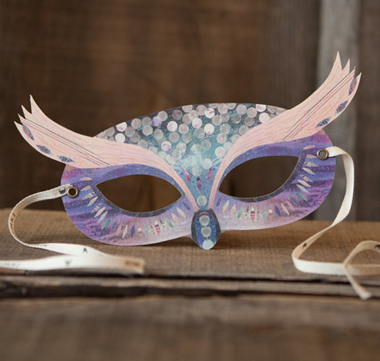Purple owl mask by Ninn Apouladaki