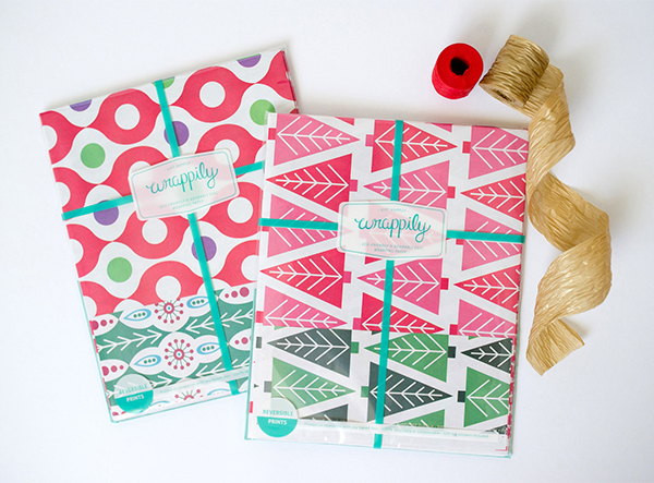 Christmas recyclable gift wrap set by Wrappily