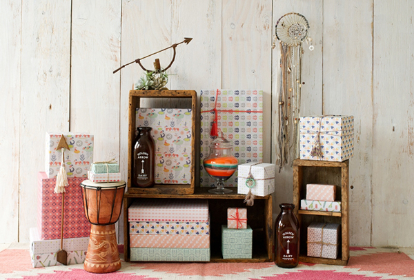 Home accessories wrapped in gift wrap from Wrappily