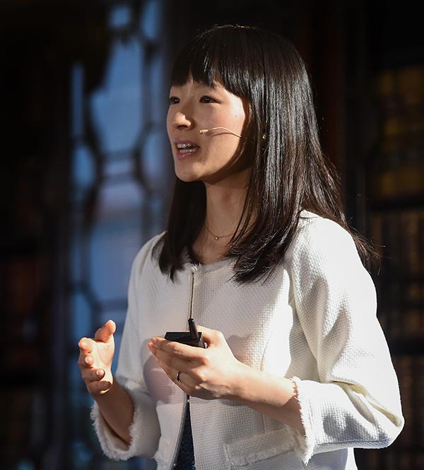 Marie Kondo speaking at Web Summit