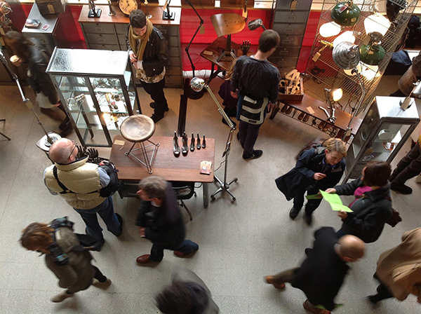 People shopping for vintage at Midcentury Modern