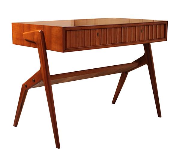 Vintage 1950s cherry wood Ico Parisi writing desk
