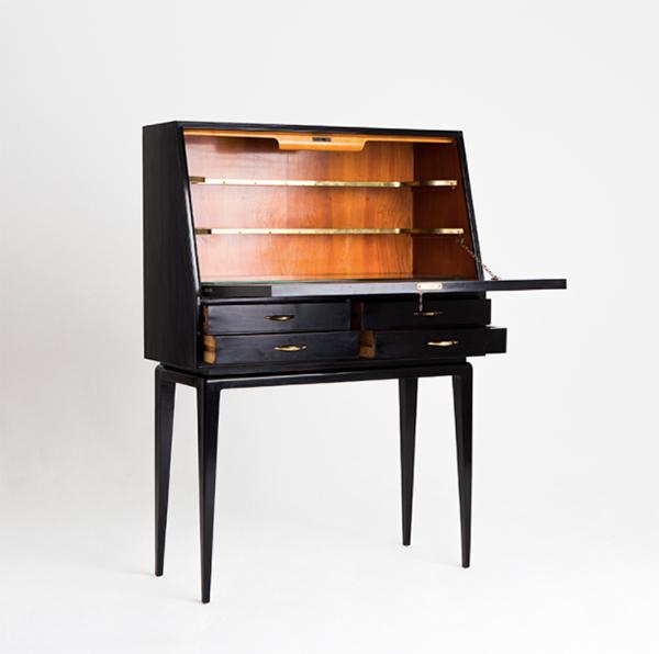 Vintage black 1950s Italian sideboard