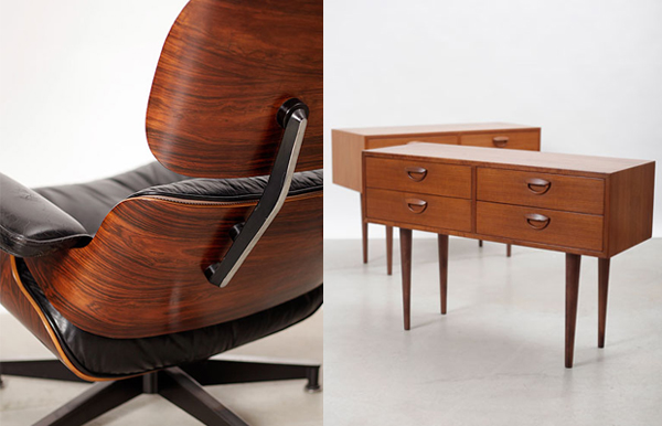 eames chair and teak smallboys