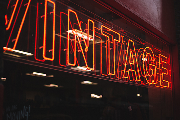 red neon vintage sign