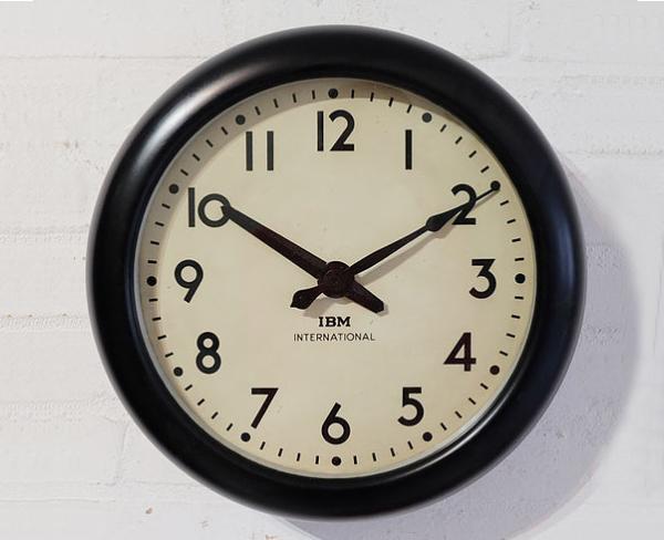 vintage 1950s IBM clock