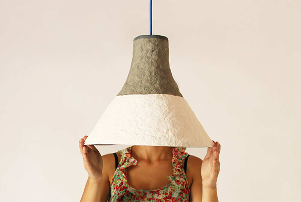 Cypisek lamp made of paper pulp by Crea-re