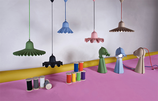 Eco chic cardboard lighting by Seletti