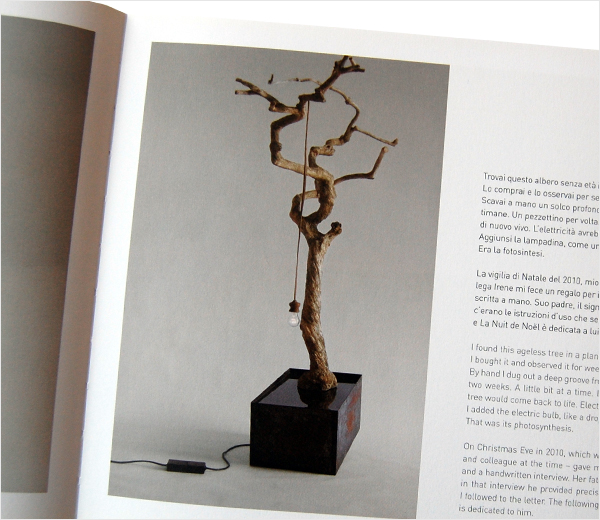 Light made from a tree by Elisa Cavani