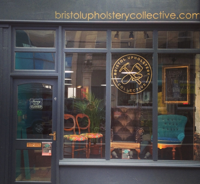 Shop window of Bristol Upholstery Collective