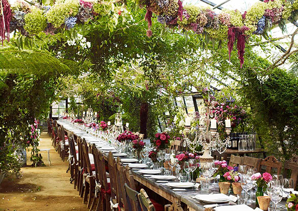 Petersham nurseries wedding reception