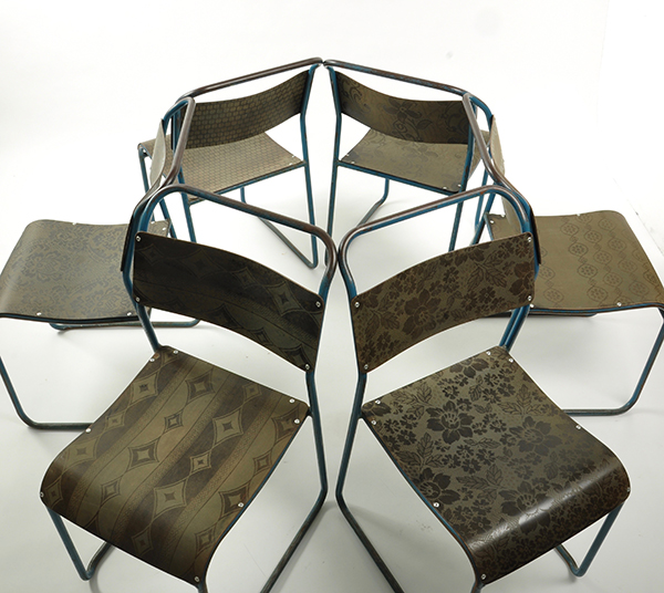Upcycled chairs by Jo Gibbs