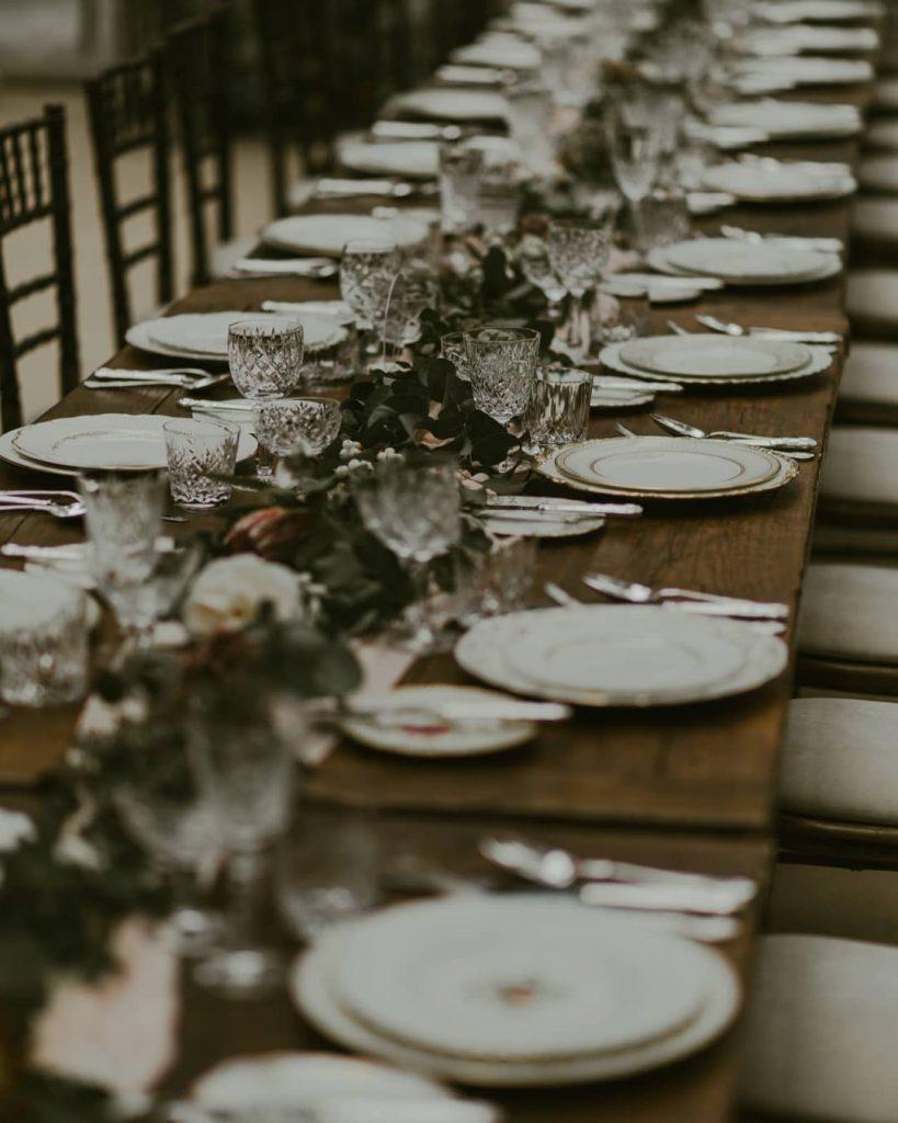 vintage tableware for wedding hire