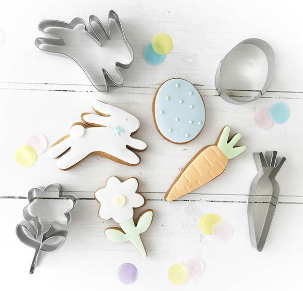 Easter themed cookie cutters