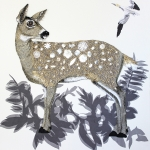 Embroidered deer by Karen Nicol