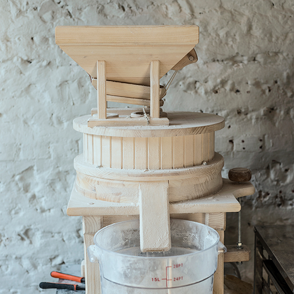 Flour mill at zero waste restaurant Silo