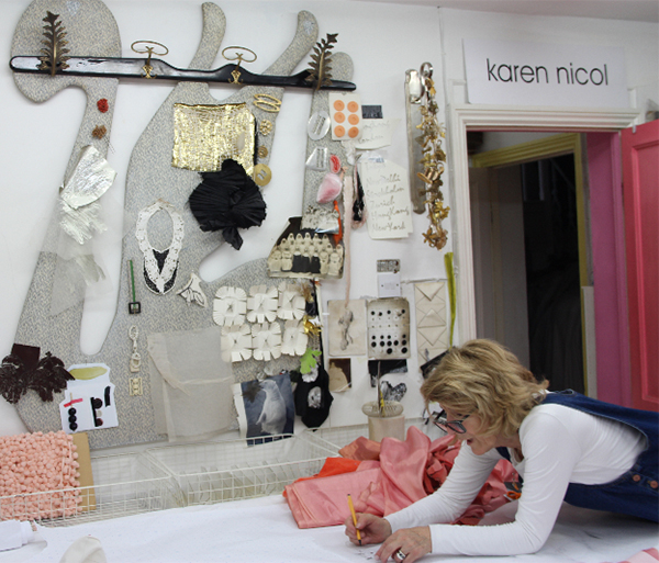 Karen Nicol in her studio