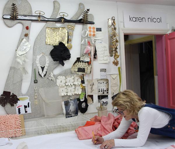 Karen Nicol in her studio