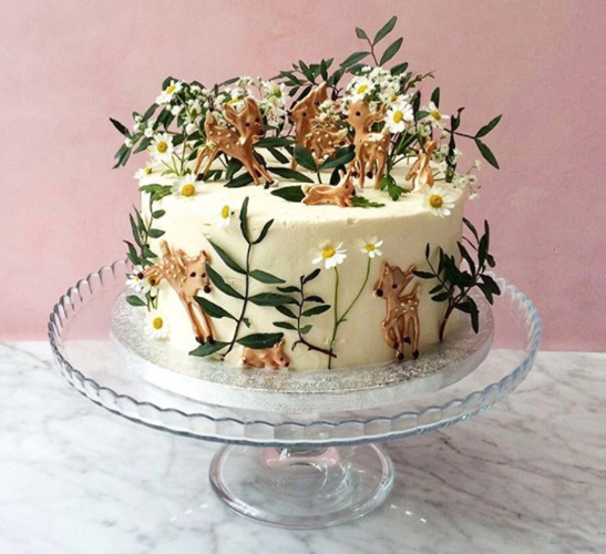 Spring themed cake by Lily Vanilli