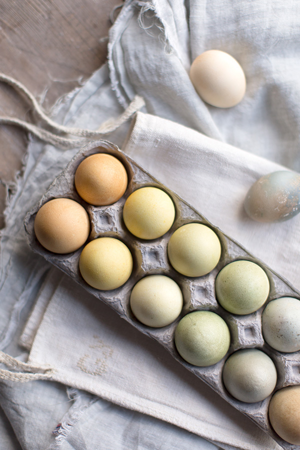 How to decorate for easter with tea dyed eggs