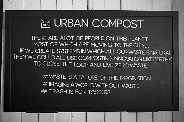 Zero waste mantra at Silo Brighton