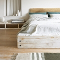 bed frame made from reclaimed wood