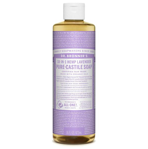Dr Bronner Organic Liquid Castile Soap in Lavender