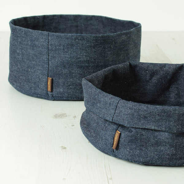 Hemp denim multipurpose bowl by Bambu