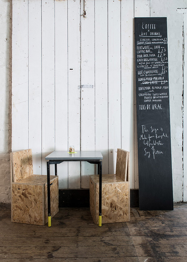 Industrial decor at zero waste restaurant Silo Brighton