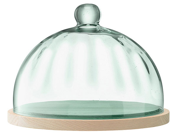 Mia cake dome made from recycled glass by LSA International