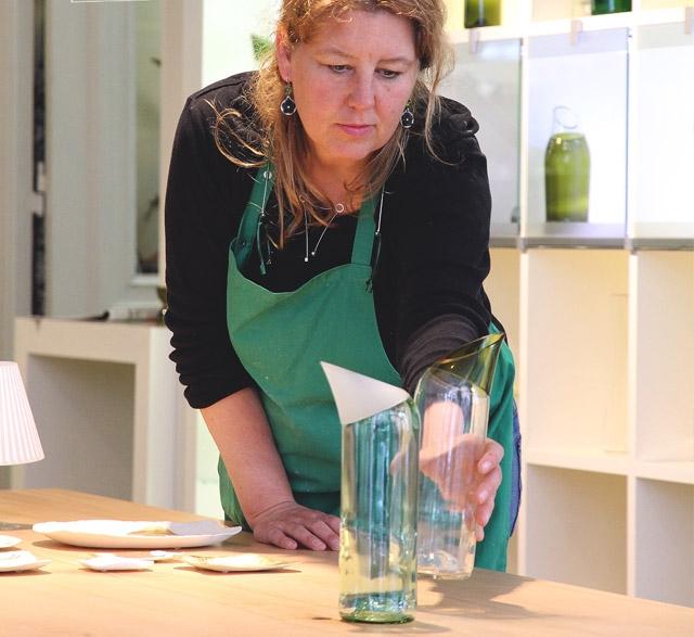 Glass artist Sybille Homann