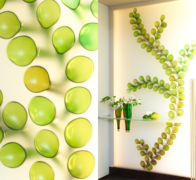 Recycled glass art by Sybille Homann