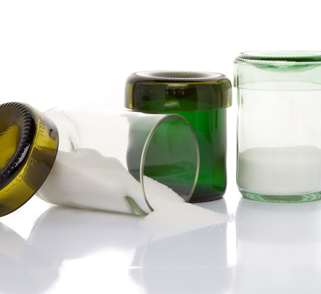 Storage canisters made from recycled wine bottles