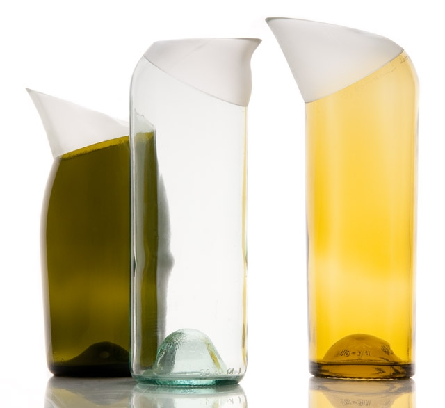 Vases made from recycled glass