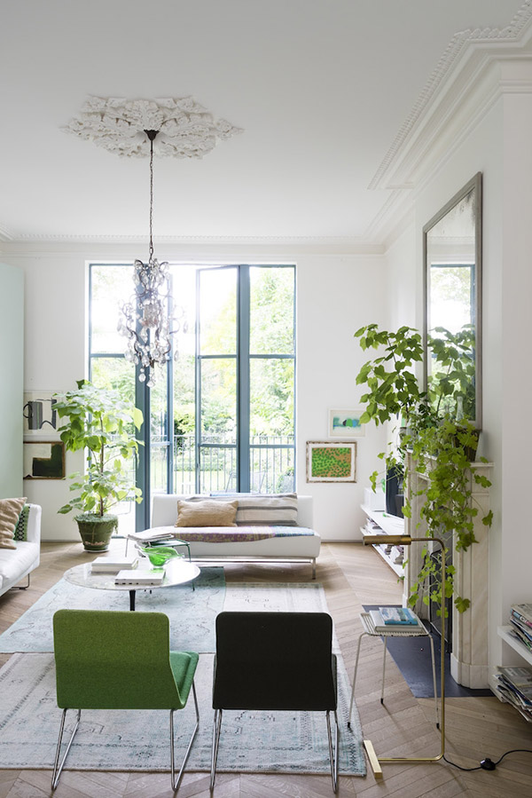 A Victorian house renovation in London with a modern botanical ...