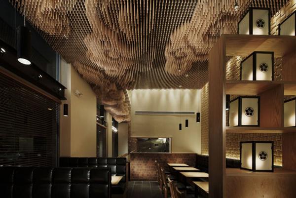 Ceiling design ideas with repurposed chopsticks