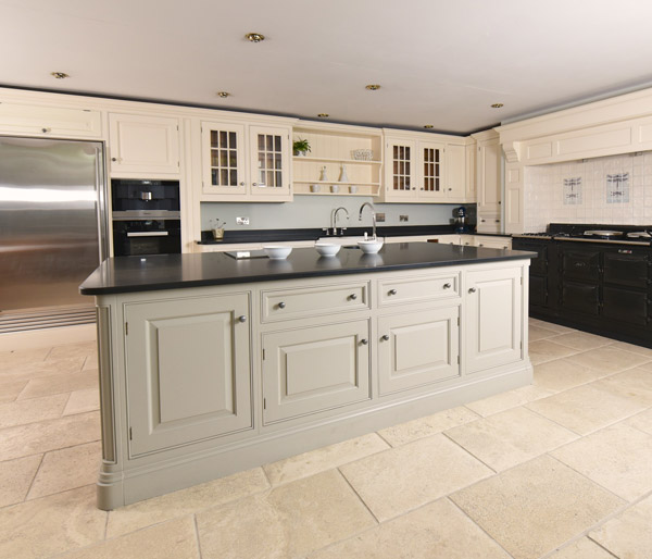 Classic cream and stone coloured kitchen