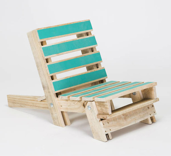 Outdoor chair made from recycled pallet wood by Gas & Air
