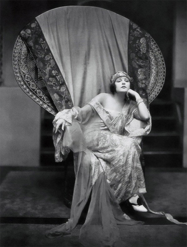Poster of Norma Talmadge in a peacock chair