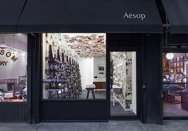 Shop front of Aesop Chelsea NY