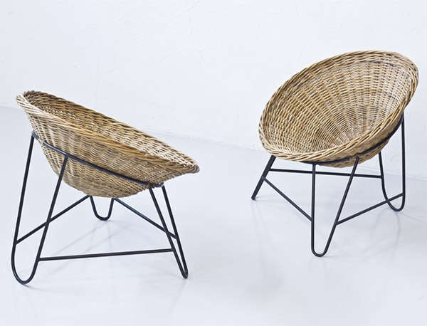 Vintage 1950s rattan chairsVintage 1950s rattan chairs