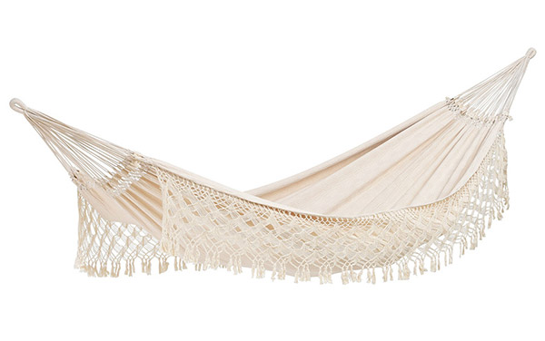 White hammock made from recycled cotton