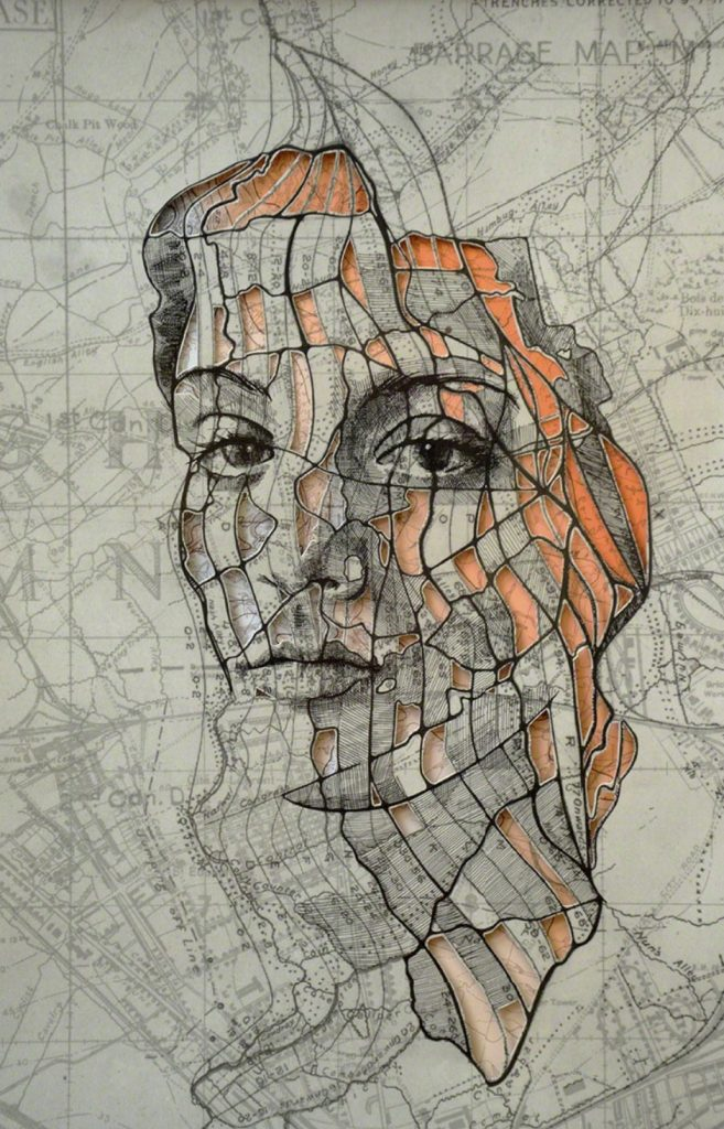 Art made from maps by paper artist Ed Fairburn