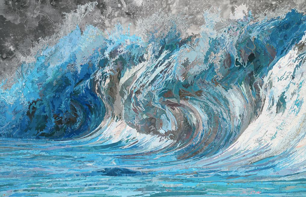 Art made from maps by paper artist Matthew Cusick
