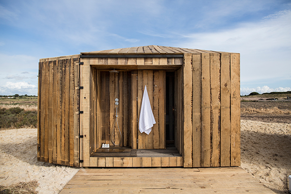 Bathroom of Cabanas no Rio cabins for rent
