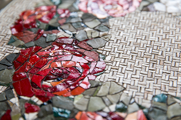 Detail of mosaic art by Yukiko Nagai