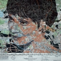 Portrait on map by Ed Fairburn