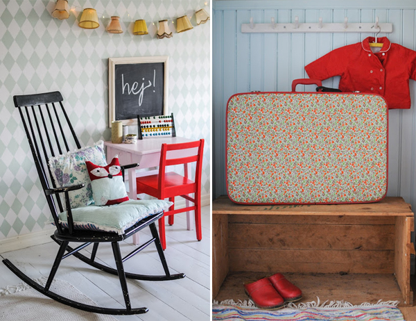 Vintage decor for a child's room