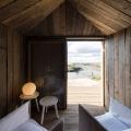 Wood interior of luxury cabin for rent Cabanas no Rio