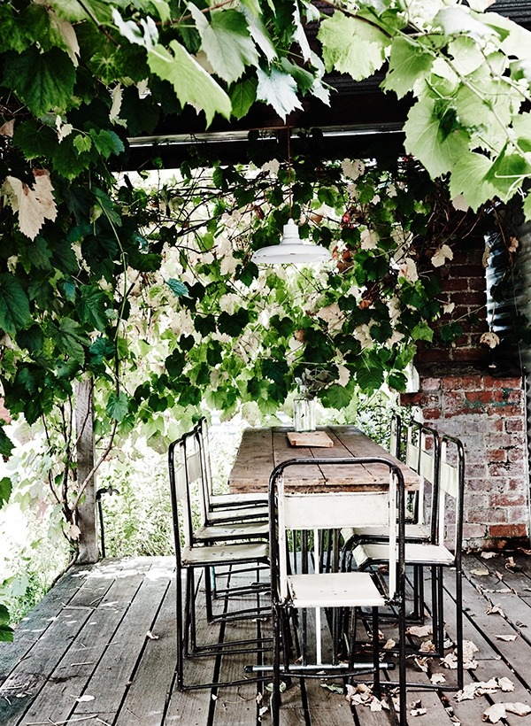 Al fresco dining area at The Estate Trentham